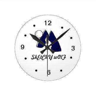 Reloj del logotipo del lobo