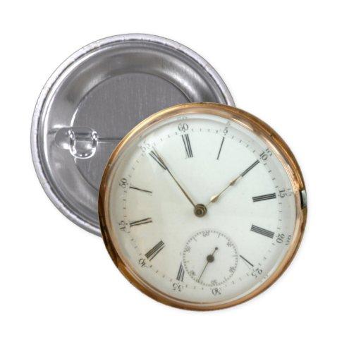 Reloj del mando de Tempus Fugit del nostálgico de  Pin Redondo 2,5 Cm