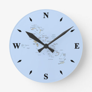 Reloj del mapa de Bahamas