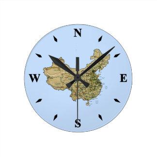 Reloj del mapa de China