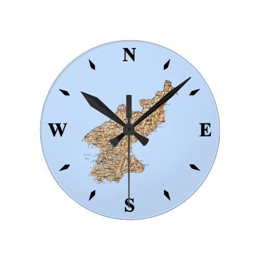 Reloj del mapa de Corea del Norte