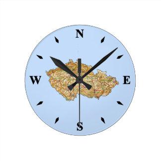 Reloj del mapa de Czechia