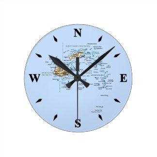 Reloj del mapa de Fiji