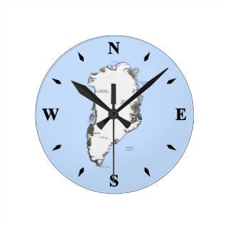Reloj del mapa de Groenlandia