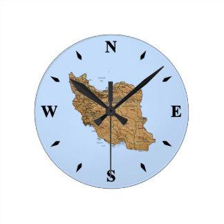 Reloj del mapa de Irán