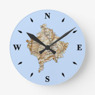 Reloj del mapa de Kosovo
