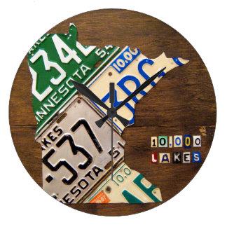 Reloj del mapa de la placa de Minnesota