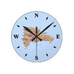 Reloj del mapa de la República Dominicana