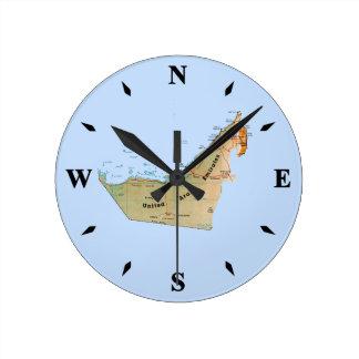 Reloj del mapa de los UAE