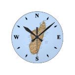 Reloj del mapa de Madagascar