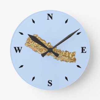 Reloj del mapa de Nepal