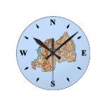 Reloj del mapa de Rwanda