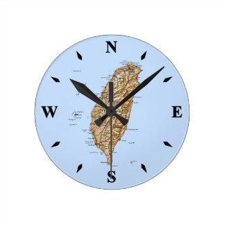 Reloj del mapa de Taiwán