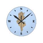 Reloj del mapa de Túnez