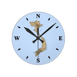 Reloj del mapa de Vietnam