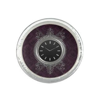 Reloj del metal plateado de Steampunk Anillo Con Foto
