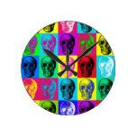 Reloj del modelo de la repetición del cráneo