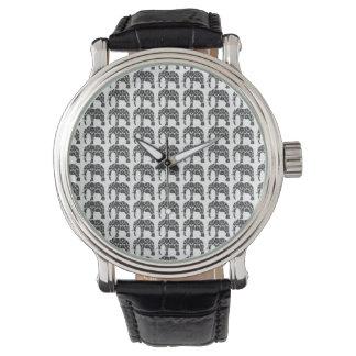 Reloj del modelo del elefante del damasco