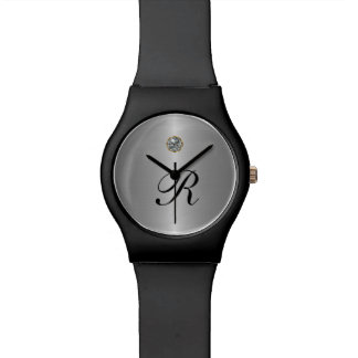 Reloj del monograma de los hombres con clase