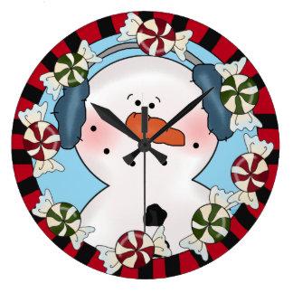 Reloj del muñeco de nieve