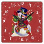 Reloj del muñeco de nieve del navidad