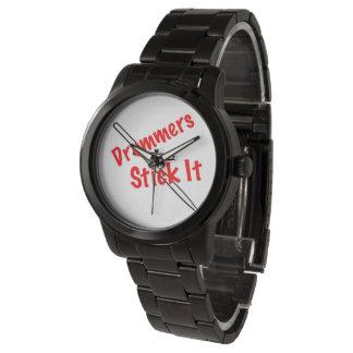 Reloj del músico del tambor del batería
