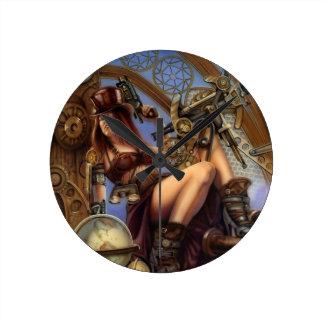 ¡Reloj del navegador de Steampunk!