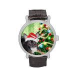 Reloj del navidad de MickeyElvis de la chihuahua