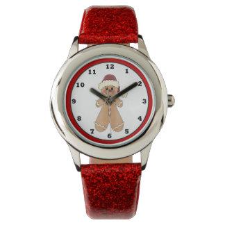 Reloj del navidad del día de fiesta de la galleta