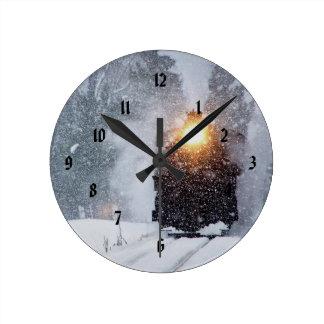 Reloj del navidad del ferrocarril del valle de la