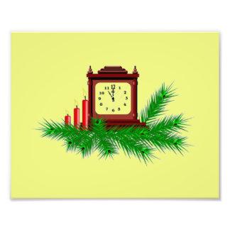 Reloj del navidad fotografia