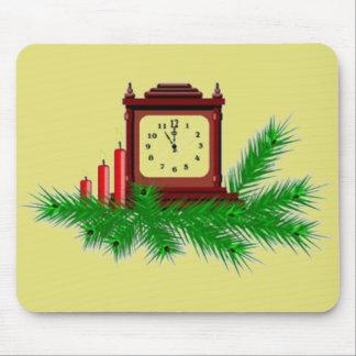 Reloj del navidad alfombrilla de ratón