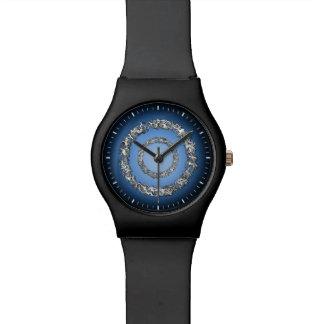 Reloj del negro azul de la órbita del platino