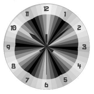 Reloj del negro de la ilusión óptica