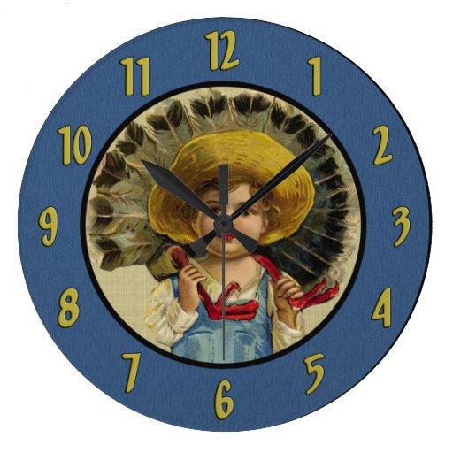 Reloj del niño del vintage y de pared de Turquía