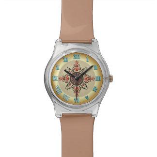 Reloj del número romano del moreno del estilo del