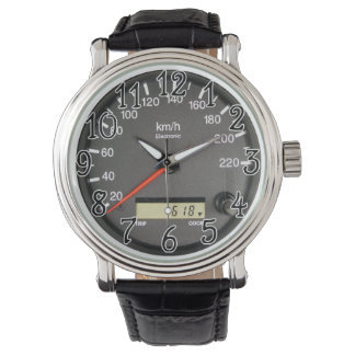 Reloj del odómetro del coche de carreras