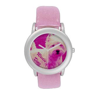 Reloj del oeste blanco del brillo de Terrier