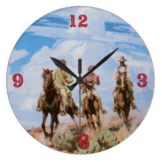 Reloj del oeste salvaje viejo de los vaqueros del