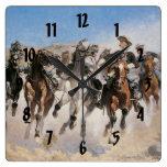 Reloj del oeste salvaje viejo del Calvary del tema