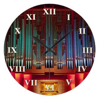 Reloj del órgano de Christchurch con los números r