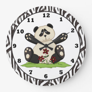 Reloj del oso de panda del dibujo animado