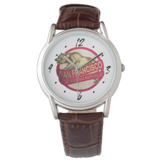 Reloj del oso del vintage de San Francisco