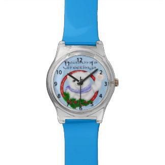 Reloj del oso polar de los saludos de la estación