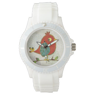 Reloj del pájaro de Whimisical