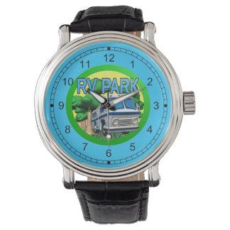 Reloj del parque de rv