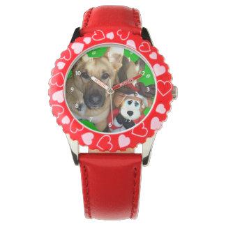 Reloj del pastor alemán de las Felices Navidad