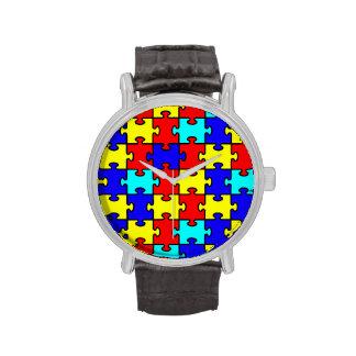 Reloj del pedazo del rompecabezas