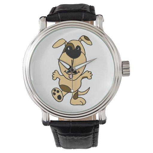 Reloj del perro de perrito del baile