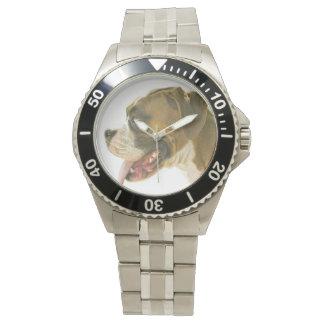 Reloj del perro del boxeador del cervatillo de la